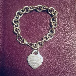 """Tiffany & Co. Heart Tag Bracelet 7.5"""""""